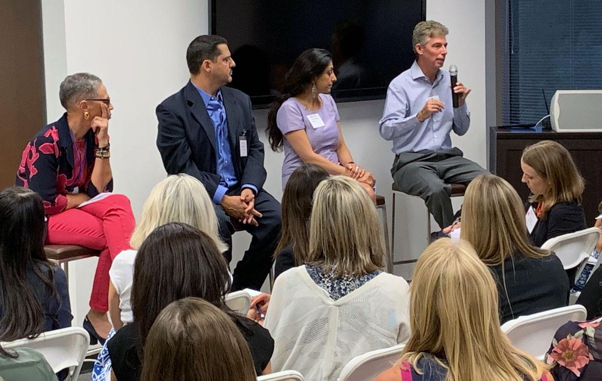 Panel participants, from left: Susan Windham-Bannister, Daniel Tellalian, Rachna Khosla, Sean Harper